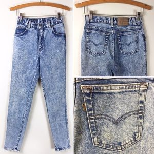 Levi's Vintage 80s 900 Series Acid Wash Jeans